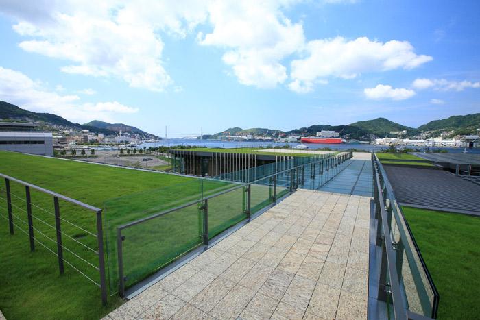 長崎県美術館の屋上庭園