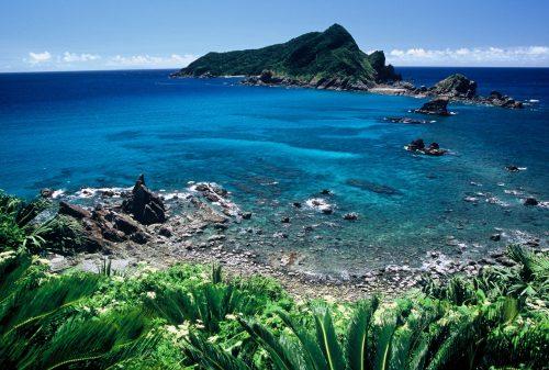 笠沙美術館から見る沖秋目島