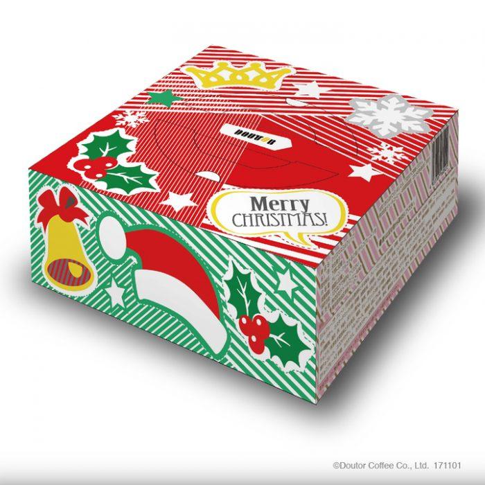 クリスマスミルクレープは、オーナメント、チョコプレート、キャンドル付き。