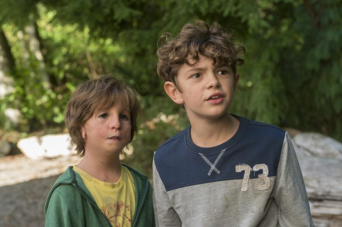 "Jacob Tremblay as ""Auggie"" and Noah Jupe as ""Jack Will"" in WONDER. Photo by Dale Robinette."