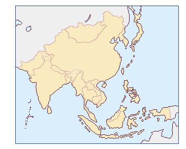 外務省 アジア地域地図
