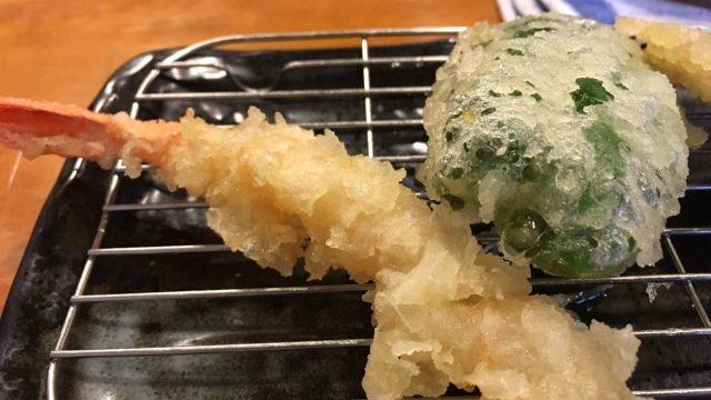 天ぷらわた辺【六本松・福岡】でお手頃揚げたて天ぷら一人飯