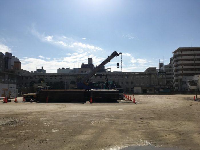 2019.02.05時点のリッツ・カールトン福岡建設地