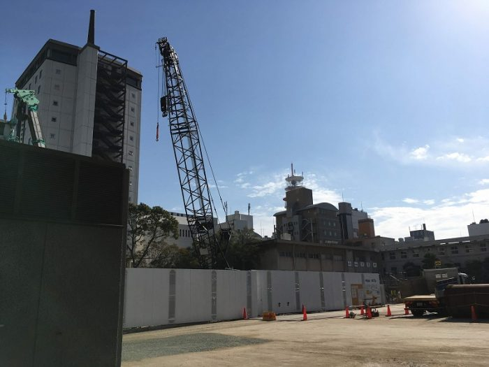 2019.02.05時点のリッツ・カールトン福岡建設地2